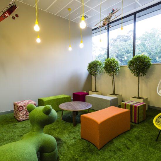 Interior Logistics – SC Johnson Funky Collaboration Room